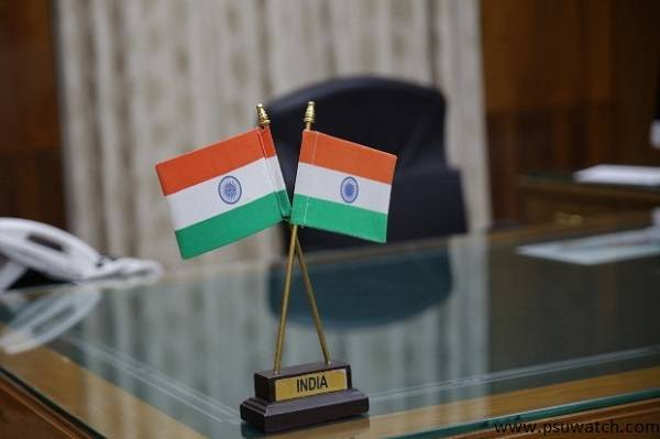 Indian flag on the table